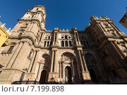 Cathedral of Malaga - Renaissance church in Malaga (2014 год). Стоковое фото, фотограф Яков Филимонов / Фотобанк Лори
