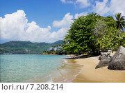 Купить «Укромный пляж в морском заливе», фото № 7208214, снято 23 февраля 2015 г. (c) Александр Романов / Фотобанк Лори