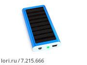 Купить «Солнечная батарея для зарядки мобильного телефона», эксклюзивное фото № 7215666, снято 3 июля 2014 г. (c) Юрий Морозов / Фотобанк Лори