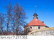Купить «Музей-крепость «Корела». Стена и Круглая воротная башня. Приозерск», эксклюзивное фото № 7217302, снято 15 марта 2015 г. (c) Александр Щепин / Фотобанк Лори