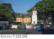 Купить «На Часовой площади города Канди. Шри-Ланка», фото № 7220258, снято 17 марта 2015 г. (c) Виктор Карасев / Фотобанк Лори