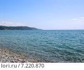 Купить «Пицундская бухта. Черноморское побережье. Абхазия», фото № 7220870, снято 21 июля 2004 г. (c) Евгений Ткачёв / Фотобанк Лори
