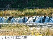 Водопад Ventas Rumba на реке Вента, Латвия (2014 год). Стоковое фото, фотограф Юлия Бабкина / Фотобанк Лори