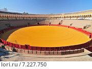 Купить «Bullfight arena (Plaza de Toros) in Seville, Andalusia Spain», фото № 7227750, снято 23 января 2019 г. (c) BE&W Photo / Фотобанк Лори
