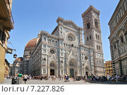 Купить «Florence, Italy. Cathedral of Santa Maria del Fiore (1436), or The Duomo, seen from the Piazza San Giovanni.», фото № 7227826, снято 19 апреля 2019 г. (c) BE&W Photo / Фотобанк Лори