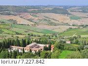 Купить «Vineyard near Montalcino, Tuscany, Italy», фото № 7227842, снято 8 декабря 2019 г. (c) BE&W Photo / Фотобанк Лори