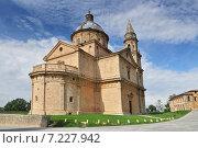 Купить «Madonna di San Biagio church Montepulciano Tuscany Italy Europe», фото № 7227942, снято 19 апреля 2019 г. (c) BE&W Photo / Фотобанк Лори