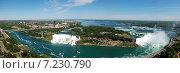 Купить «Панорама Ниагарского водопада», фото № 7230790, снято 15 июня 2012 г. (c) Сергей Драцкий / Фотобанк Лори