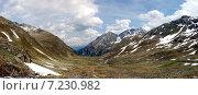 Купить «Швейцария, панорамный горный пейзаж», фото № 7230982, снято 2 июля 2013 г. (c) Сергей Драцкий / Фотобанк Лори