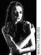 Купить «Young wet depressed woman», фото № 7232082, снято 5 апреля 2015 г. (c) Art Konovalov / Фотобанк Лори