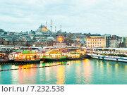 Купить «Причал Эминеню в Стамбуле», фото № 7232538, снято 22 февраля 2015 г. (c) Андрей Родионов / Фотобанк Лори