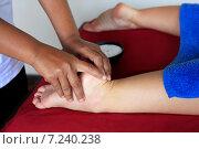 Купить «Массаж ног», фото № 7240238, снято 10 июля 2010 г. (c) Морозова Татьяна / Фотобанк Лори