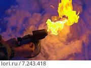 Паяльная лампа с ярким пламенем, фото № 7243418, снято 9 марта 2013 г. (c) Евгений Ткачёв / Фотобанк Лори