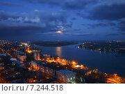 Вечерний вид на реку Дон, Ростов-на-Дону, фото № 7244518, снято 4 апреля 2015 г. (c) Ночёвка Виктория / Фотобанк Лори