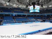 """Купить «Ледовый дворец """"Айсберг"""" внутри, Сочи, Олимпийский парк», фото № 7246562, снято 12 февраля 2014 г. (c) Жанна Коноплева / Фотобанк Лори"""