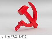 Купить «Серп и молот красный из пластика - символ СССР», эксклюзивная иллюстрация № 7249410 (c) Виктор Тараканов / Фотобанк Лори