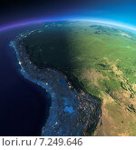 Купить «Поверхность земного шара, Боливия, Перу, Бразилия», иллюстрация № 7249646 (c) Антон Балаж / Фотобанк Лори