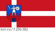 Купить «Флаг города Цесис. Латвия», иллюстрация № 7250382 (c) Владимир Макеев / Фотобанк Лори