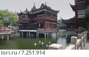 Купить «Пейзаж в Саду Юйюань в Шанхае», видеоролик № 7251914, снято 8 мая 2014 г. (c) Кирилл Трифонов / Фотобанк Лори