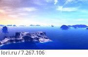 Купить «Чужая планета. Скалы в море и небо», видеоролик № 7267106 (c) Parmenov Pavel / Фотобанк Лори