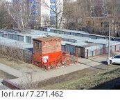 Купить «Гаражи на Новощукинской улице в Москве», эксклюзивное фото № 7271462, снято 14 марта 2015 г. (c) lana1501 / Фотобанк Лори