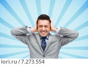 Купить «businessman in suit having head ache», фото № 7273554, снято 29 января 2015 г. (c) Syda Productions / Фотобанк Лори