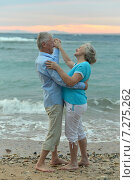 Купить «Senior couple on a beach», фото № 7275262, снято 1 марта 2014 г. (c) Ruslan Huzau / Фотобанк Лори
