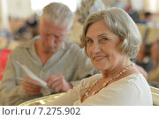 Senior couple at shopping. Стоковое фото, фотограф Ruslan Huzau / Фотобанк Лори