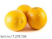 Апельсины на белом фоне. Стоковое фото, фотограф Игорь Леонов / Фотобанк Лори