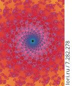 Купить «Декоративная фрактальная спираль в розовых тонах», иллюстрация № 7282278 (c) Astronira / Фотобанк Лори