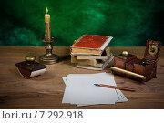 Купить «Письменные принадлежности в ретро стиле», фото № 7292918, снято 6 апреля 2015 г. (c) Валерий Александрович / Фотобанк Лори