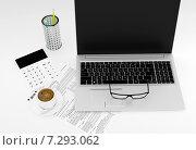 Купить «Рабочее место бухгалтера», иллюстрация № 7293062 (c) Дмитрий Боков / Фотобанк Лори