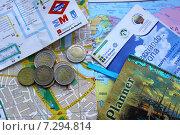 Карты и путеводители по Европе, евро (2014 год). Редакционное фото, фотограф Наталья Данченко / Фотобанк Лори