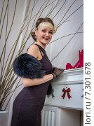 Купить «Портрет элегантной девушки», фото № 7301678, снято 1 ноября 2014 г. (c) Наталья Степченкова / Фотобанк Лори