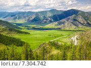 Купить «Altai landscapes from mountain pass Chike-Taman», фото № 7304742, снято 19 июня 2014 г. (c) Serg Zastavkin / Фотобанк Лори