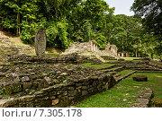 Археологические раскопки Yaxchilan (Йашчилан), Чьяпас, Мексика (2014 год). Стоковое фото, фотограф Борис Ветшев / Фотобанк Лори