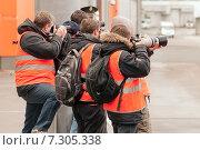 Купить «Споттинг в аэропорту Шереметьево», эксклюзивное фото № 7305338, снято 15 апреля 2015 г. (c) Константин Косов / Фотобанк Лори