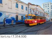 Купить «Трамвай, модель МТТЧ», фото № 7314930, снято 11 апреля 2015 г. (c) Татьяна Назмутдинова / Фотобанк Лори
