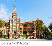 Купить «Hospital de la Santa Creu i Sant Pau in Barcelona», фото № 7316562, снято 13 сентября 2014 г. (c) Яков Филимонов / Фотобанк Лори