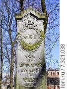 Купить «Старинное Лютеранское кладбище», фото № 7321038, снято 25 апреля 2015 г. (c) Sashenkov89 / Фотобанк Лори