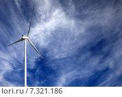Купить «Ветряная турбина на фоне неба», фото № 7321186, снято 31 августа 2013 г. (c) Анна Полторацкая / Фотобанк Лори