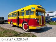 Купить «Старый советский городской автобус ЗИС -155, производился в СССР с 1947 по 1957 годы», фото № 7328674, снято 26 апреля 2015 г. (c) vale_t / Фотобанк Лори