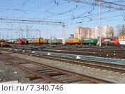 Железнодорожные пути (2015 год). Редакционное фото, фотограф Новак Максим / Фотобанк Лори