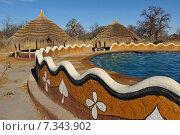 Купить «Botswana Planet baobab Botswana, Africa, planet baobab, shanty, cottage, swimming pool CWO_030Africa, Botswana, swimming pool and hut», фото № 7343902, снято 27 июня 2019 г. (c) BE&W Photo / Фотобанк Лори