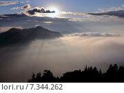 Купить «Nepal, Ghorepani, Poon Hill, Dhaulagiri massif, Himalaya, Sunrise view from Poon Hill, Dhaulagiri massif, Himalaya», фото № 7344262, снято 20 июля 2019 г. (c) BE&W Photo / Фотобанк Лори