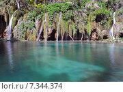 Купить «Croatia, Plitvicka Jezera, Plitvice Lakes National Park, Plitvice Lakes National Park», фото № 7344374, снято 18 декабря 2018 г. (c) BE&W Photo / Фотобанк Лори