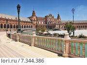 Купить «Plaza de Espana (Place d' Espagne), built between 1914 and 1928 by the architect Anibal Gonzalez, Sevilla, Andalucia, Spain», фото № 7344386, снято 27 марта 2019 г. (c) BE&W Photo / Фотобанк Лори