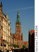 Poland, Gdansk, The Hall of the Main City on The Long Market. Стоковое фото, агентство BE&W Photo / Фотобанк Лори