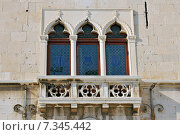 Купить «Croatia, Split, Old balcony, Split», фото № 7345442, снято 22 августа 2019 г. (c) BE&W Photo / Фотобанк Лори