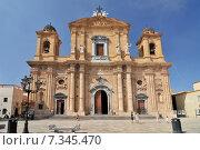 Chiesa del Purgatorio (Church of Purgatory) Marsala in Sicily Italy. Стоковое фото, агентство BE&W Photo / Фотобанк Лори